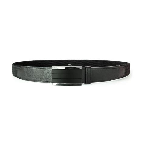 comfortable dress belt auto lock black small