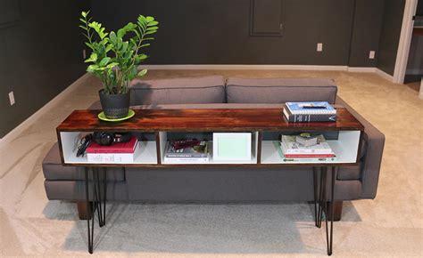 build sofa table build a mid century modern sofa table diywithrick