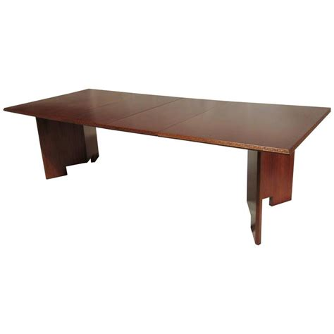 henredon dining table frank lloyd wright extension mahogany dining table heritage henredon 1955 for sale at 1stdibs