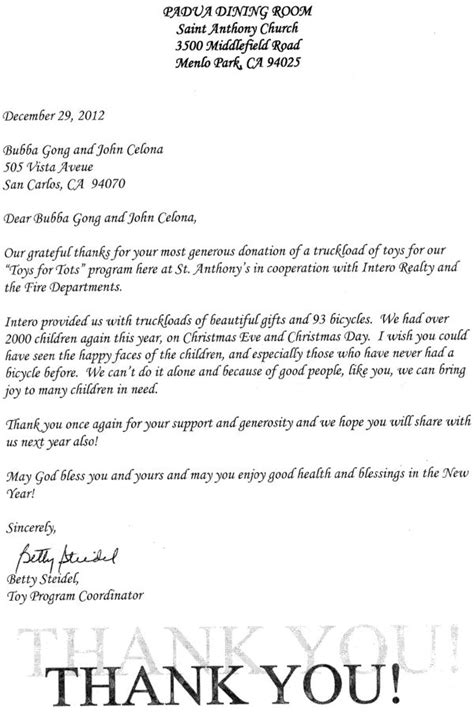 Ministry Support Letter Sle thank you letter to a pastor sle 28 images thank you