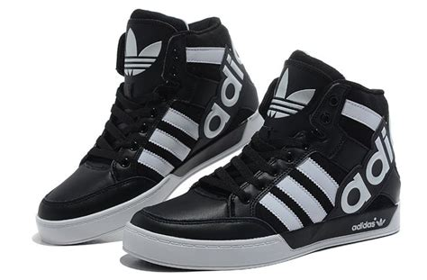 fashion large discount black white adidas originals city leather generations high top shoes