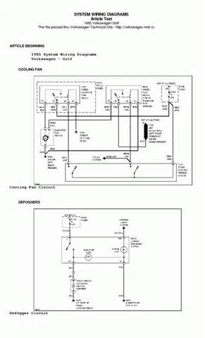 pdf ebook volkswagen golf 1985 system wiring diagrams