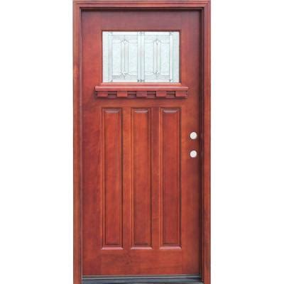 Craftsman Door Dentil Shelf by Pacific Entries Craftsman 1 Lite Stained Mahogany Wood