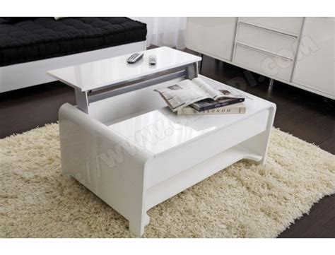 Table Basse Salon Blanche