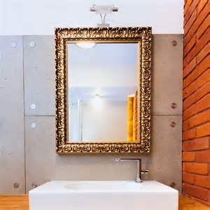 frames for mirrors in bathroom custom gold frame bathroom mirror for the home
