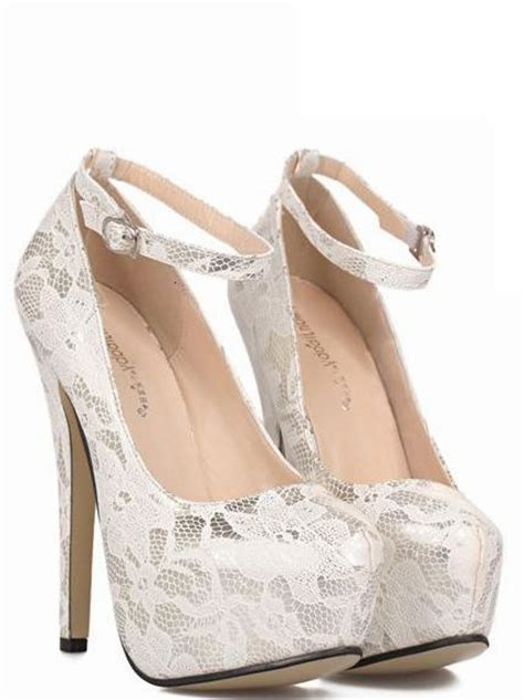 white lace high heels white lace ankle design high heels fashion