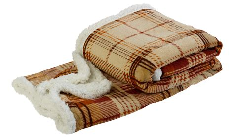 Or Blanket Soft Sherpa Fleece Checked Throw Reversible Bed Blanket 50 Quot X 60 Quot Ebay