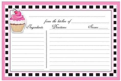 cupcake recipe card template 341 best kirjapaberid images on writing paper
