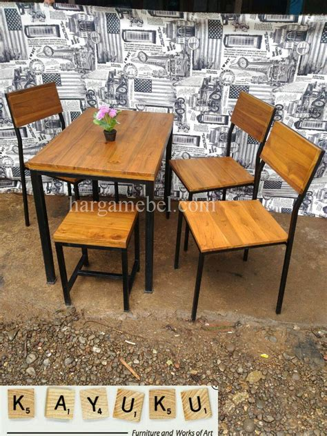 Meja Makan Cafe set meja makan cafe industrial mebel jepara furniture