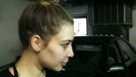 jimmy kimmel hair loss kim kardashian displays shocking hair loss after relying