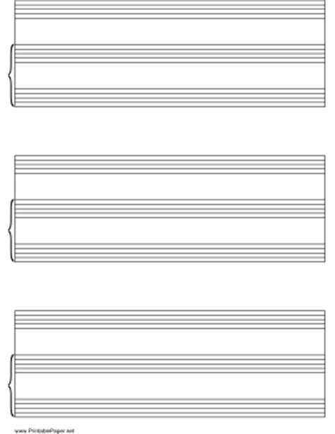 Score Paper Printable Vocal Score Paper On Letter Sized Paper