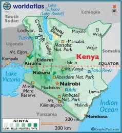 Kenya On World Map by World Map Kenya