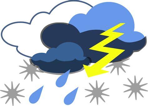 clipart donne kostenlose vektorgrafik blitz sturm donner regen