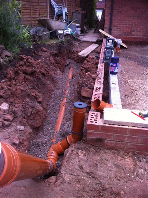 self build house extension drains planning house extension drainage design house design