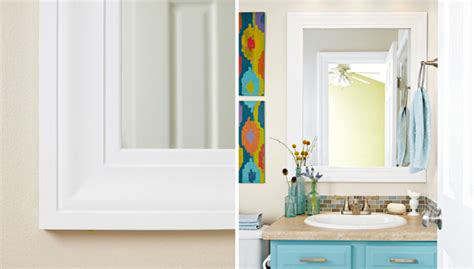 Bathroom Trim Ideas by Mirror Frame