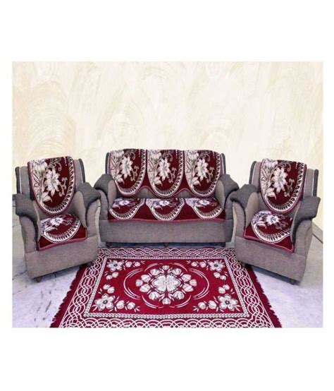 red floral sofa mhf red floral cotton sofa cover set of 6 buy mhf red