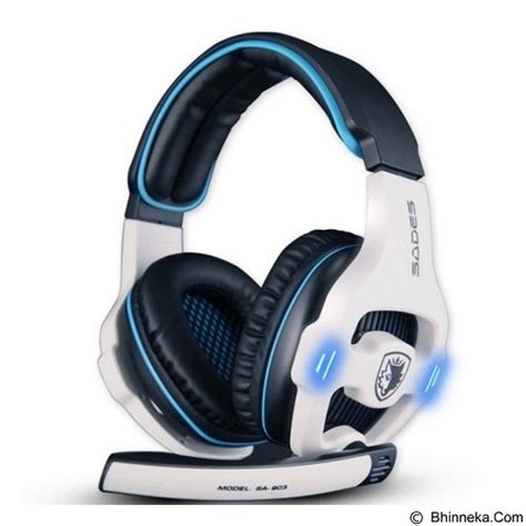 Murah Earcup Sades 903 Blue jual gaming headset sades gaming headset sound effect 7 1 sa 903 white merchant gaming