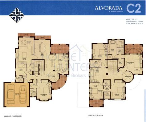2 floor villa plan design arabian ranches buyers guide