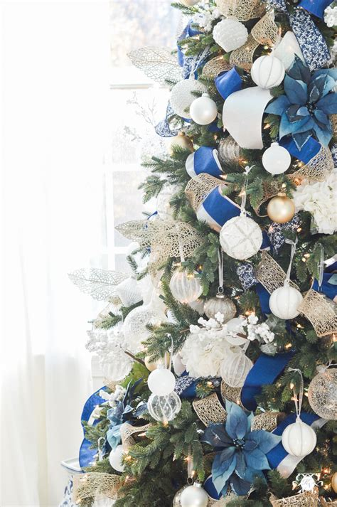 blue and silver tree ideas parade of trees 2016 kelley nan