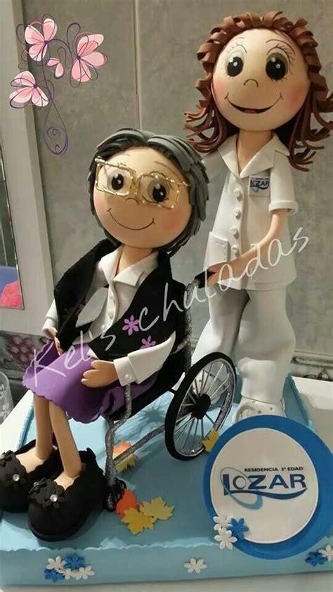 silla clay dolls enfermera y paciente en silla de ruedas ideas para