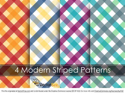 free modern striped vector pattern
