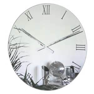 Clocks And Mirrors Uk Roco Verre Large Mirror Wall Clock