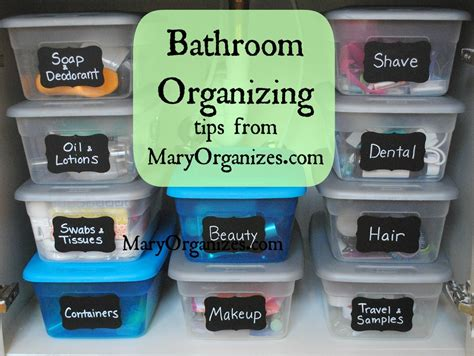 tips for organizing bathroom organizing tips