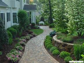paver walkway for front of house front yard landscaping