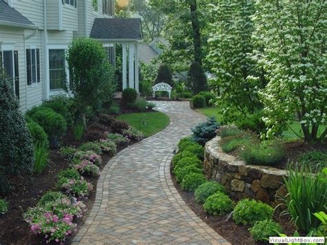 paver walkway for front of house front yard landscaping ideas pin