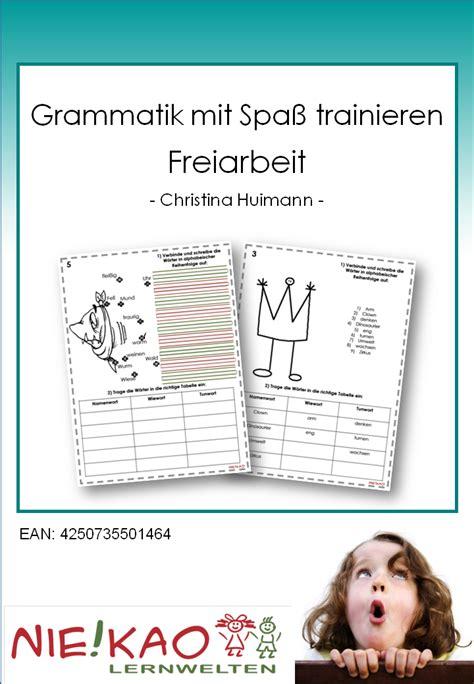 Mit Freundlichen Gr En Grammatik Unterrichtsmaterial 220 Bungsbl 228 Tter F 252 R Die Grundschule Grammatik Mit Spa 223 Trainieren