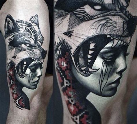 wolf tattoo ideas for men 70 wolf designs for masculine idea inspiration