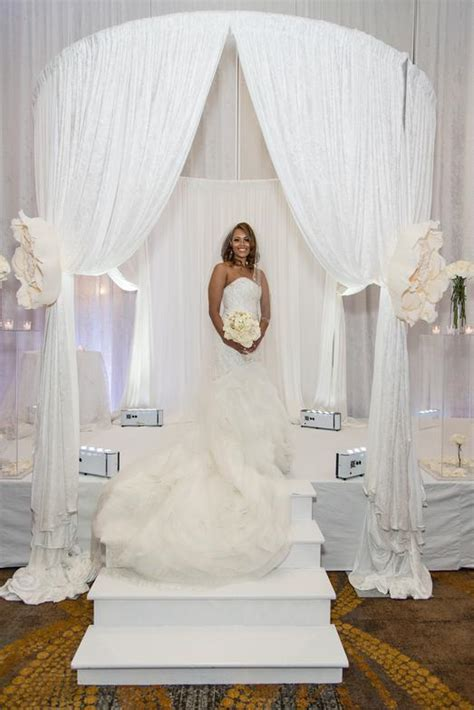 circular pipe and drape 96 white wedding drapes jewish wedding ceremony in