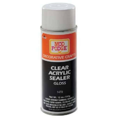 Decoupage Spray - mod podge 174 clear acrylic sealer spray gloss gettin
