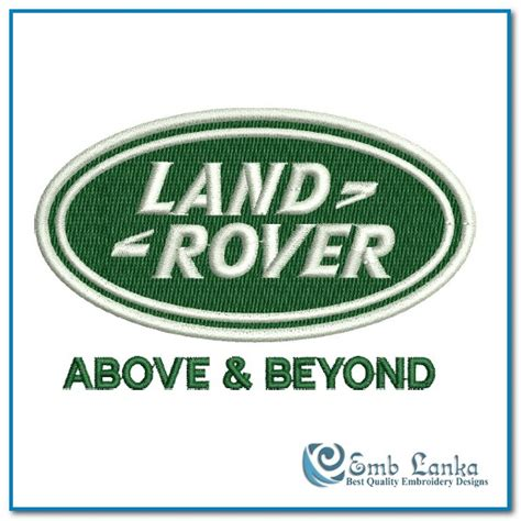land rover above and beyond logo land rover above and beyond logo embroidery design