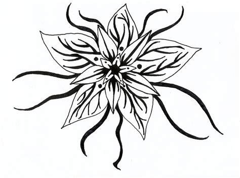 design flower drawing flowers black and white drawing clipart best