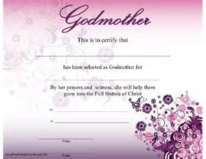 Godparent Certification Letter a godmother certificate with a beautiful modern purple
