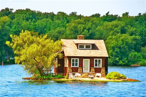 Great Island Cabin C by Lake Cottage Thousand Islands Canada Cabin