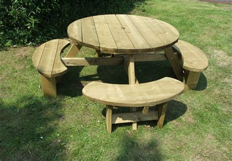 buy picnic bench bulk buy for schools pubs retaurants 8 seat round picnic