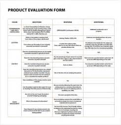product evaluation template product evaluation 9 free sles exles format