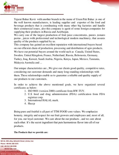 Introduction Letter Of A Trading Company Introduction Letter