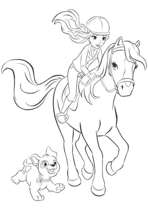 free lego friends horse coloring pages