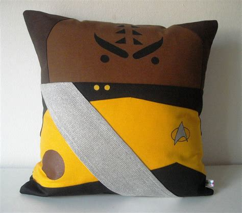 New Generation Pillow by Trek Tng Inspired Worf Pillow Cushion Cover 40x40 Cm