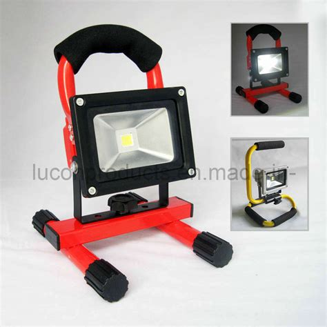 portable outdoor construction lights china rechargeable portable 10w led floodlight