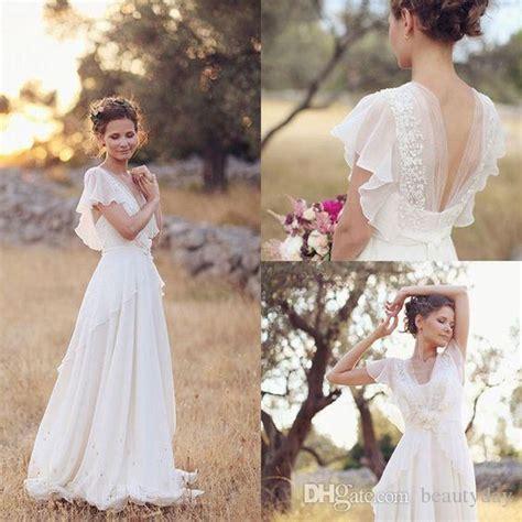 discount bohemian hippie style wedding dresses  beach