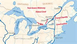 map of canada waterways parks canada historic canals iwi caigns