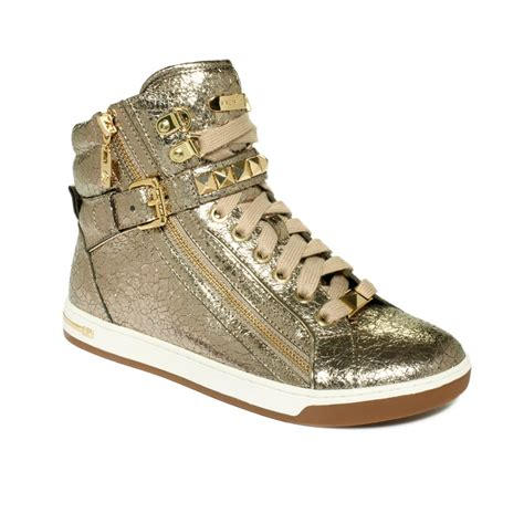 michael kors mk city sneaker  metallic lyst