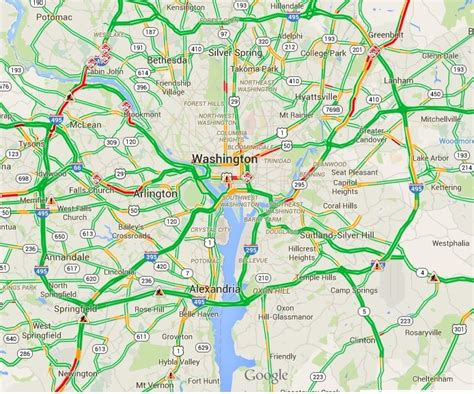 maps traffic colors live congestion or future traffic on map
