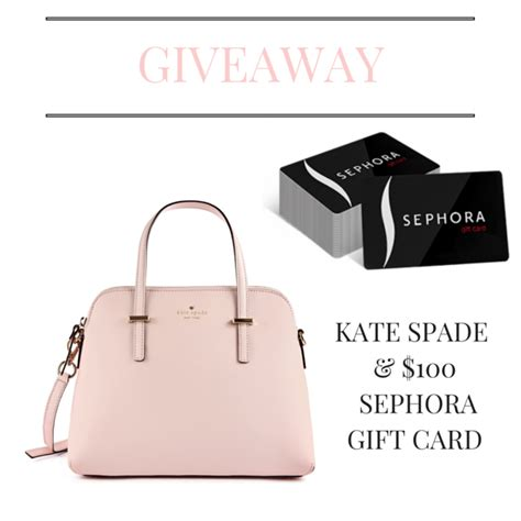 Kate Spade Gift Card - giveaway win a kate spade handbag 100 sephora gift card mystylespot