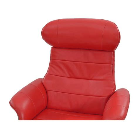 enzo leather recliner chair enzo red leather swivel chair el dorado furniture