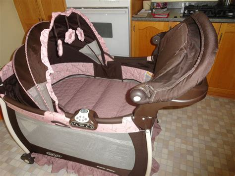 Pink And Brown Graco Pack N Play With Changing Table Graco Pack And Play Brown And Pink Central Ottawa Inside Greenbelt Ottawa